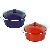 Кастрюля керамическая для запекания 2.0л с крышкой  6107 распродажа посуды Украина