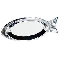 Блюдо для рыбы из нержавеющей стали 40см  4339