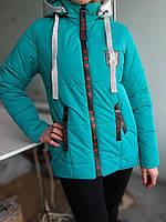 """Детская весенняя курточка """"Гучи"""" (146-164р) бирюзовый, фото 1"""