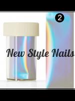 Набор пленки битое стекло перламутр для декора ногтей, 12 шт в упаковке