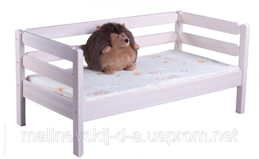 Белая кроватка деревянная 70*140  Тимошка