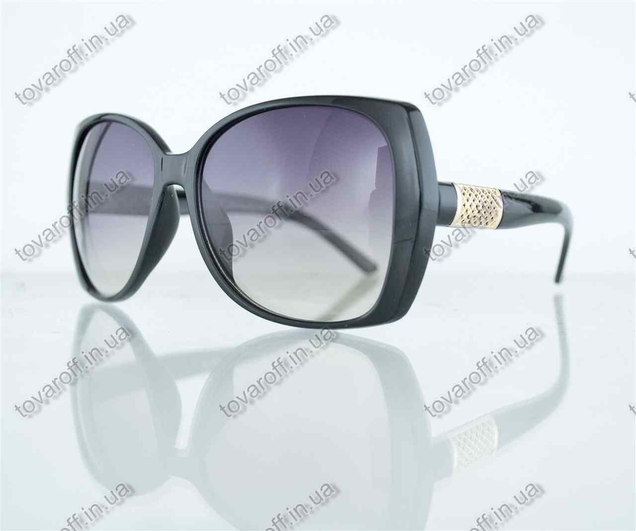 Оптом очки женские солнцезащитные - Черные - 7704
