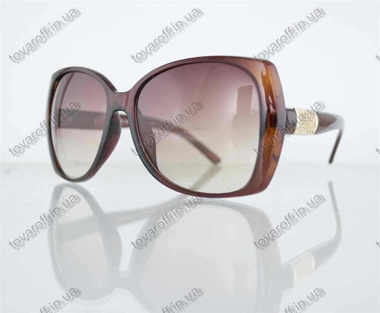 Оптом очки женские солнцезащитные - Коричневые - 7704