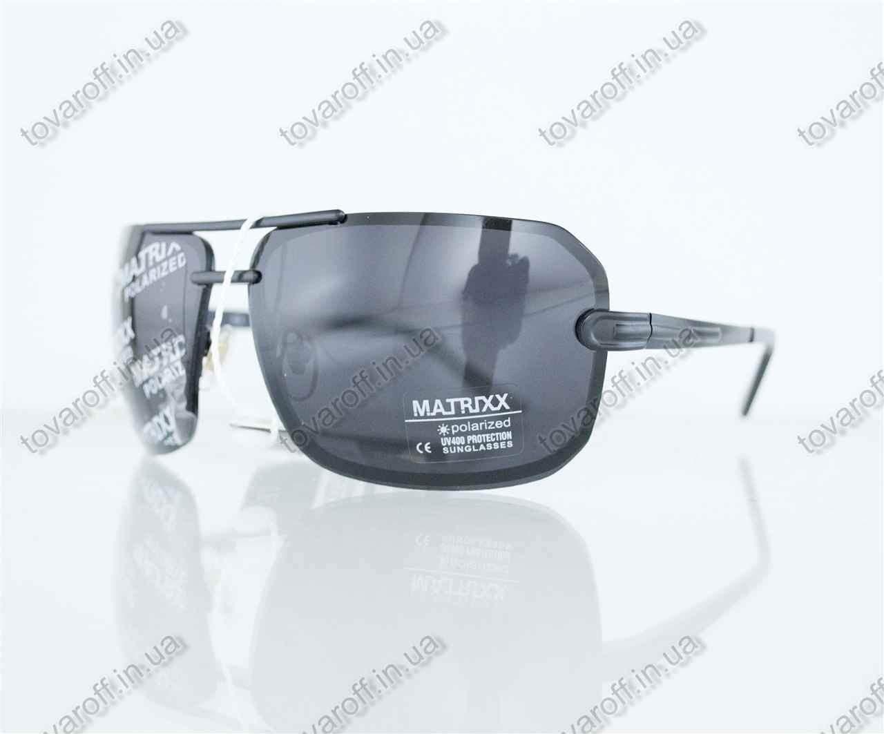 Оптом очки мужские сонцезащитные поляризационные - Черно-золотые - 08531