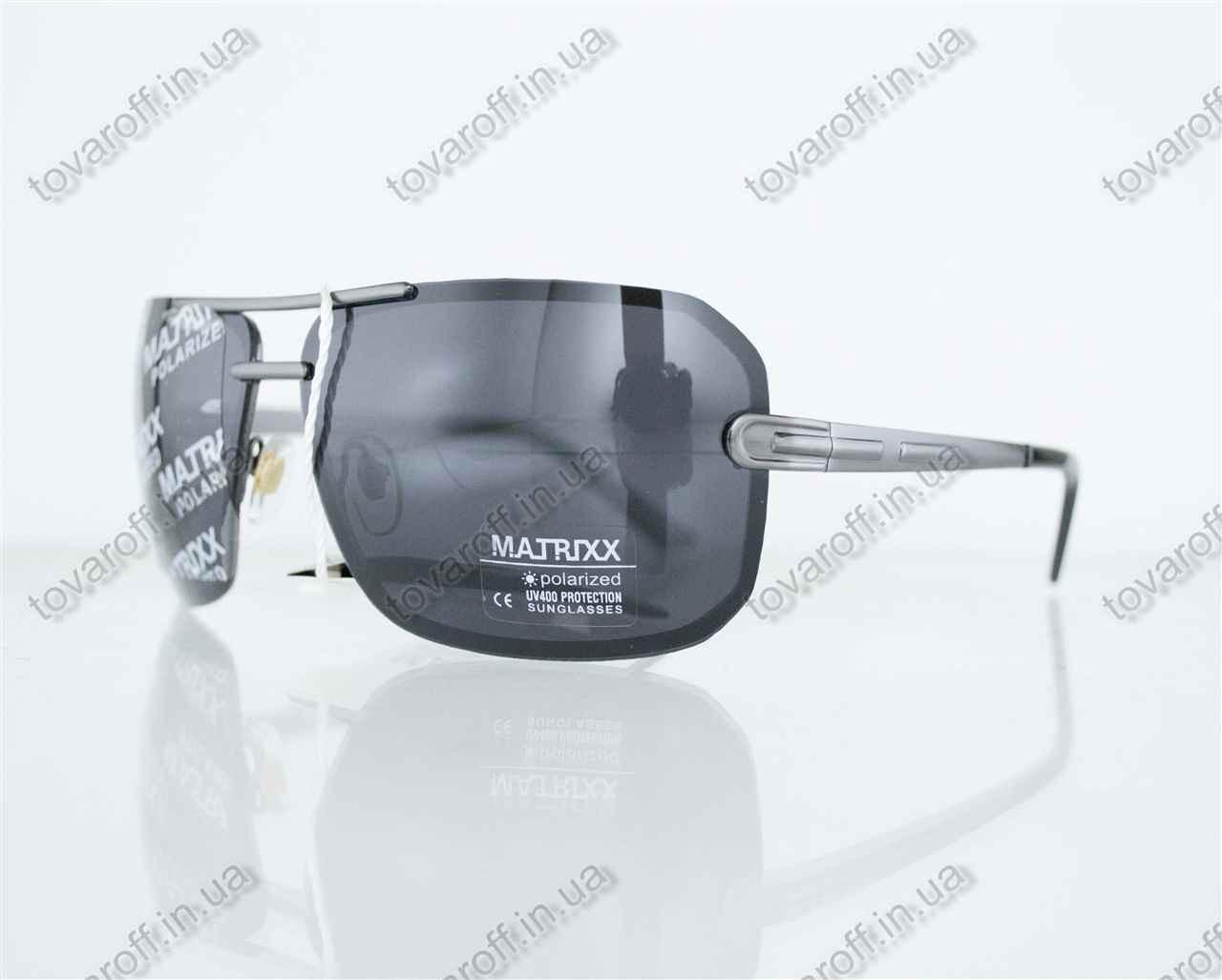 Оптом очки мужские сонцезащитные поляризационные - Стальные - 08531