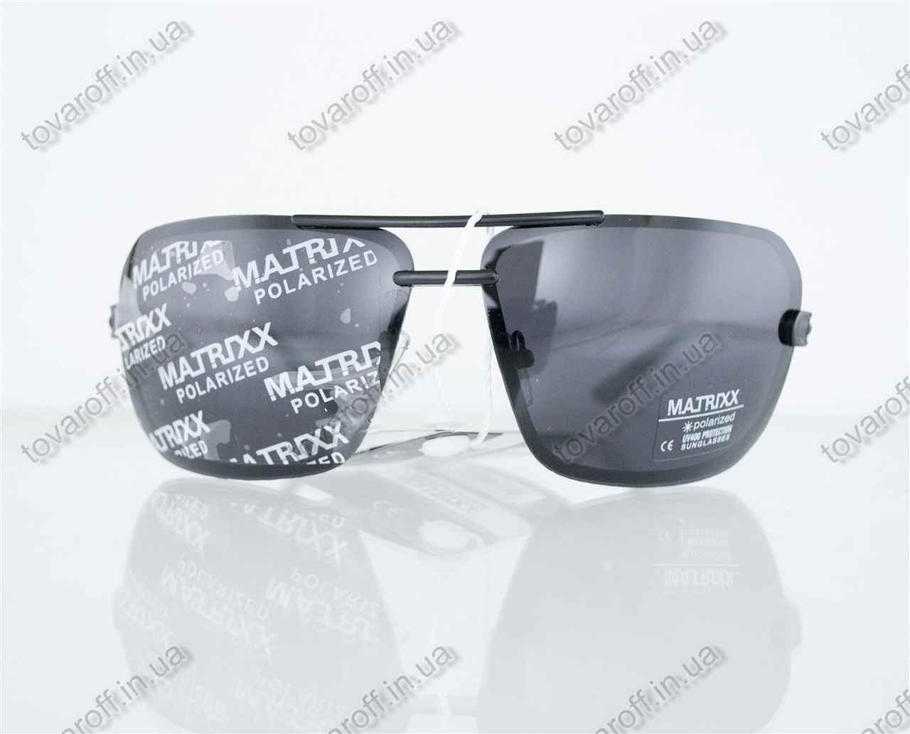Очки мужские сонцезащитные поляризационные - Черно-золотые - 08531