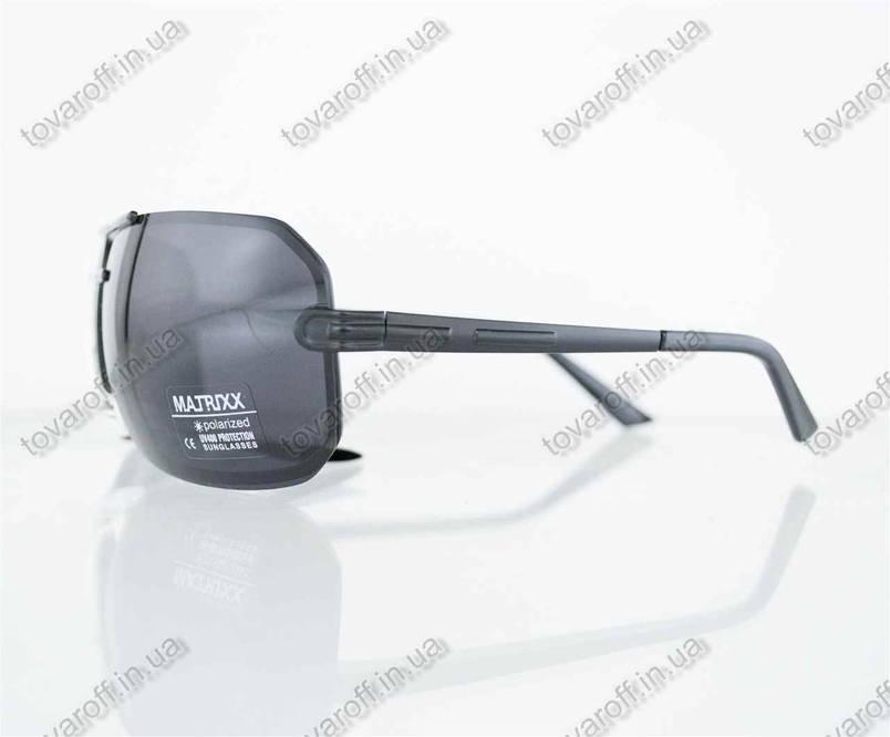 Очки мужские сонцезащитные поляризационные - Черно-золотые - 08531, фото 2