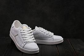 Кеды Yuves W20 (Adidas Stan Smith) (весна-осень, женские, кожа, белый)