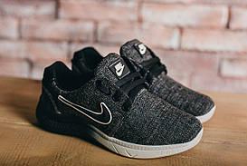 Кроссовки CrosSAV 41 (Nike Roshe Run) (весна-осень, подростковые, джинс, серый)