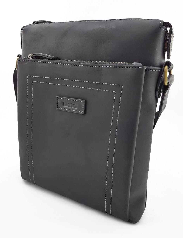 Мужская сумка планшетка натуральная кожа черная