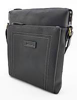 Мужская сумка планшетка натуральная кожа черная, фото 1