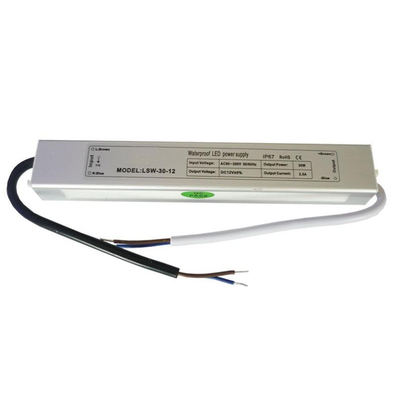 БП герметичный 12V СТАНДАРТ 2A 24W IP65 алюминий (LT)