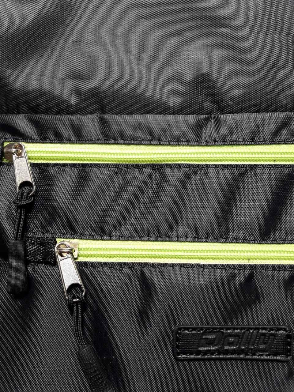 Рюкзак мішок спортивний Чорний з салатовим замком
