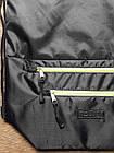 Рюкзак мешок спортивный Чёрный с салатовым замком, фото 2