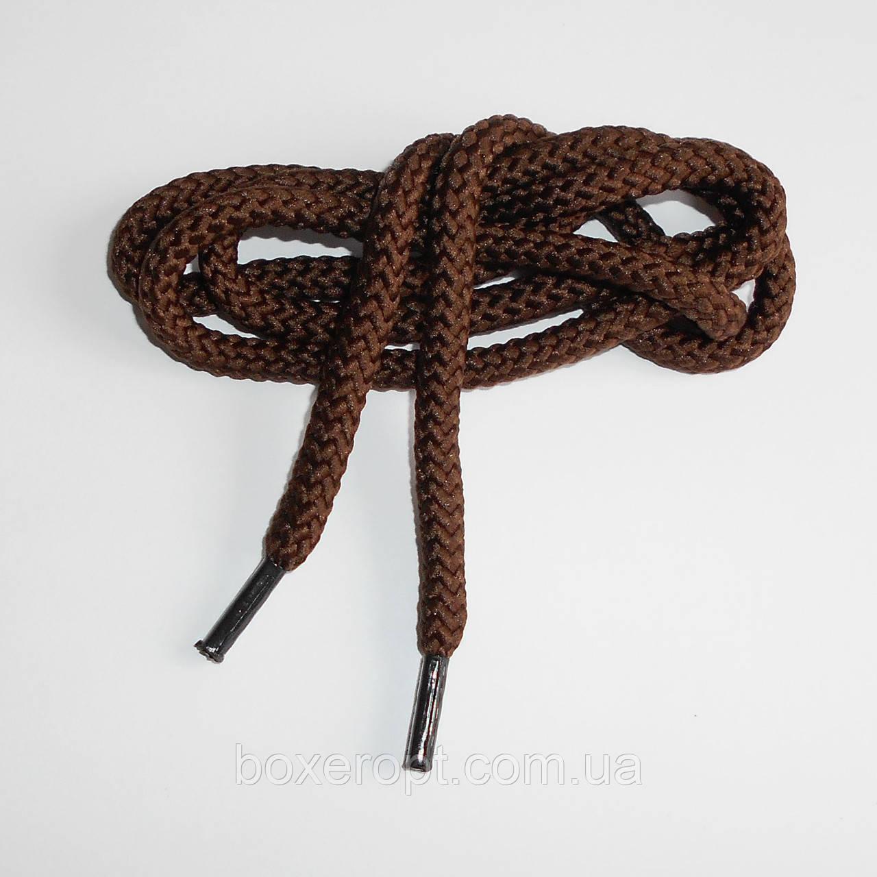 Шнурки обувные полиэфирные. Круглые, 0.9 м. (коричневые)