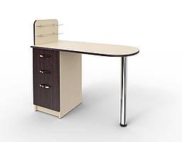 """Маникюрный стол c стеклянными полочками под лак """"Уют"""" Мокко"""