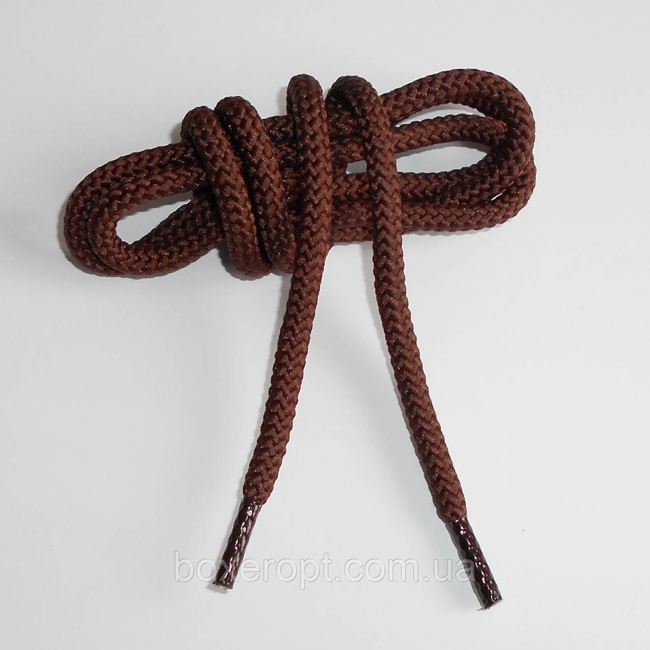 Шнурки обувные полиэфирные. Круглые, 1 м. (коричневые)