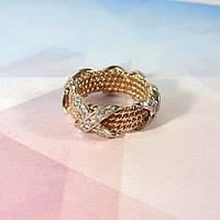 Плетеное кольцо в стиле Тиффани узкое