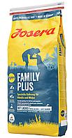 Сухой корм Josera Family Plus (Йозера Фэмили Плюс) для беременных и кормящих собак и щенков, 15 кг