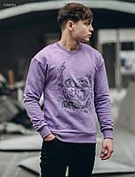 Мужской свитшот Staff violet flowers oversize