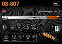 "Ключ динамометрический 1/2"", 42-210Нм., трещ.24з, точн.-±4%, NEO 08-807"