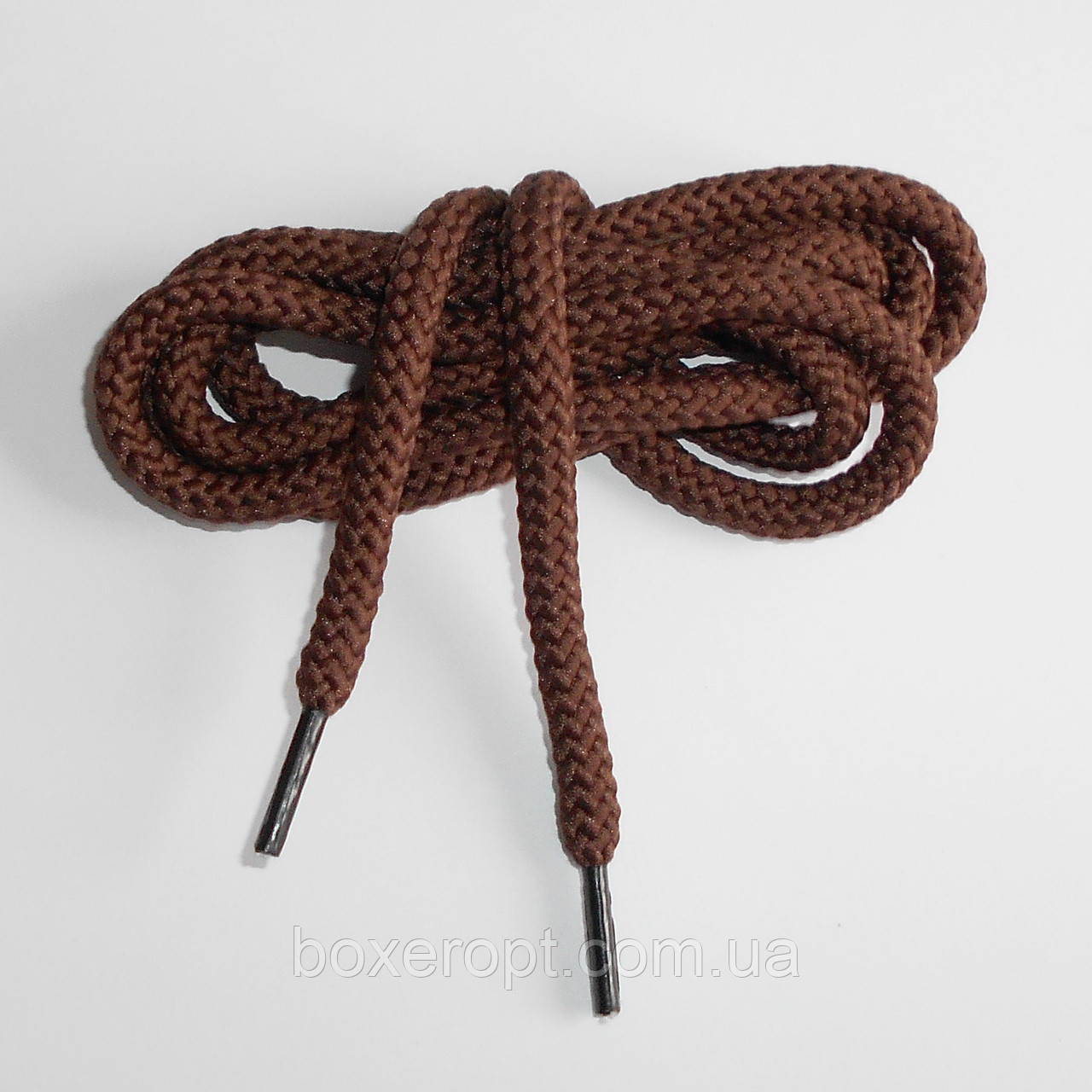 Шнурки обувные полиэфирные. Круглые, 1.1 м. (коричневые)
