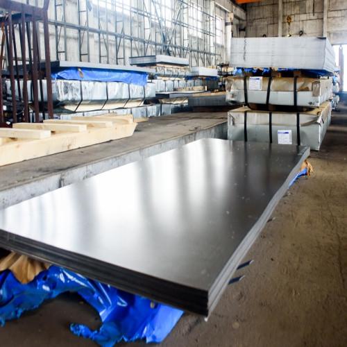 Лист нержавеющий AISI 304 0,8мм (1,25х2,5м) BA+PVC  лист нж, листы н/ж, нержавейка