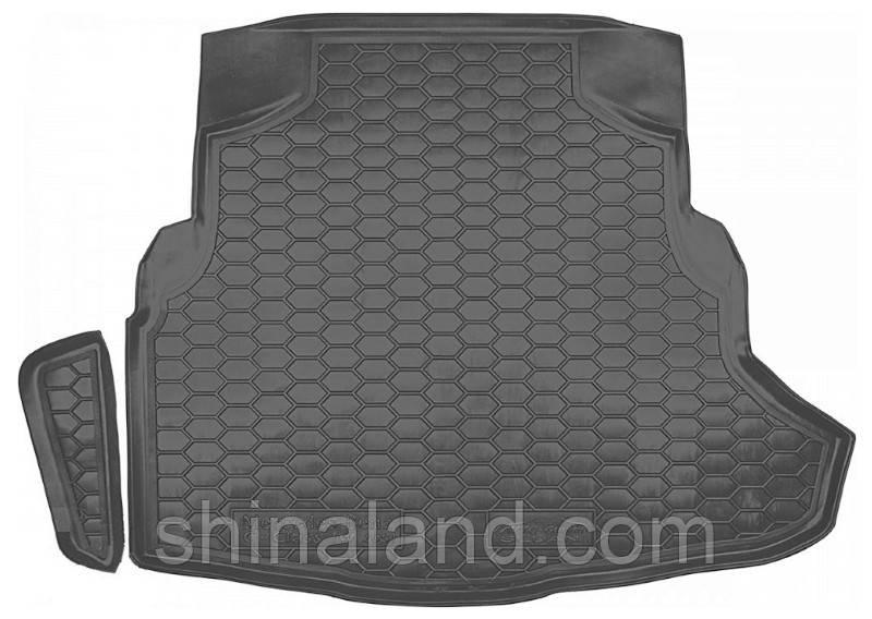 """Коврик в багажник Mercedes-Benz C-Class (W205) 2013 - с """"ухом"""", черный, полиуретановые (Avto-Gumm) - штука"""