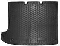 Коврик в багажник Vw Transporter T5 Caravelle (длин. без печки) 2003 - 2015 черные, полиуретановые (Avto-Gumm, 111424) - штука