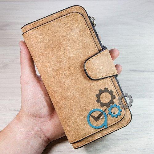 СТИЛЬНЫЙ Светло-коричневый Женский клатч (портмоне, кошелёк) Baellerry Forever (байлери) жіночий гаманець ЗАМШ