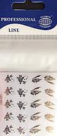 """Наклейка на ногти металлизированная серебро  2D  """"GLOBOS"""" логотип  IGK1007S"""