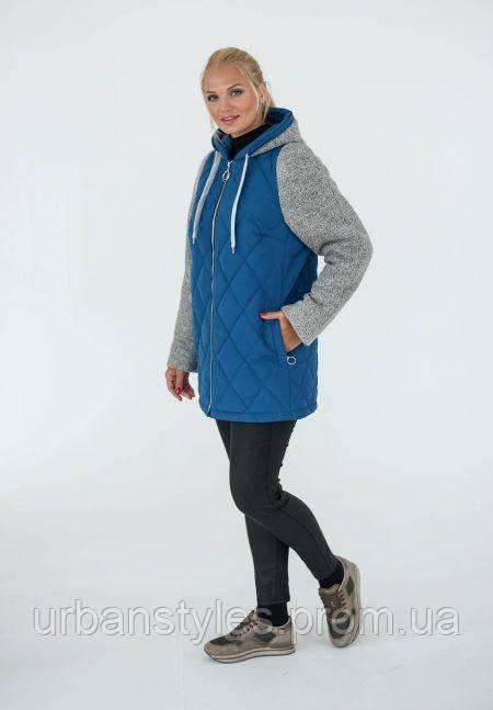 6a8c1f5922b Демисезонная куртка Waukeen «Женева» Светло-синий 02602 -  Городскойстиль.com.ua