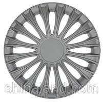Колпаки на колеса R13 серебро, Jestic Dino - комплект (4 шт.)