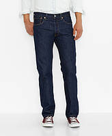 Мужские джинсы Levi's Men's 501 Original Fit Jeans Rinse, фото 1