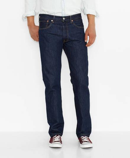 Мужские джинсы Levi's Men's 501 Original Fit Jeans Rinse