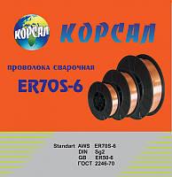 Омедненная, сварочная проволока ER-70S-6 ф1,0 15кг Корсал, фото 1