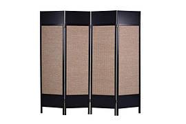 Декоративная ширма, экран, деревянный 4 сегмента. солома