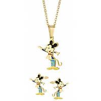Набор детский Mickey Mouse кулон и серьги позолоченные из стали 118539