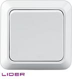 Выключатель одноклавишный LiDER Legenda LVO10-775, фото 2