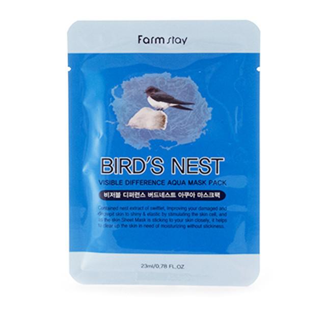 Тканевая маска с экстрактом ласточкиного гнезда FarmStay Visible Difference Birds Nest Aqua Mask Pack