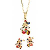 Набор детский Mickey Mouse кулончик и серьги из стали 118538