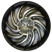 Колпаки на колеса R13 черные + серебро, Star Sprut+ (3103) - комплект (4 шт.)