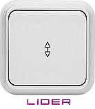 Выключатель одноклавишный проходной LiDER Nova LVO10-877, фото 2