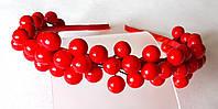Обруч веночек ручной работы, ягоды калины