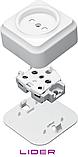 Розетка одинарная без заземления (Керамика) LiDER Nova LVO10-885, фото 4