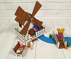 Набор кукольной мебели из фанеры Сказочная Мельница (механическая) (3 предмета), арт. 1203