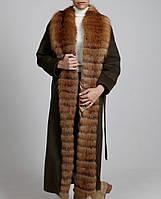 Пальто с  мехом лисицы, индпошив, фото 1