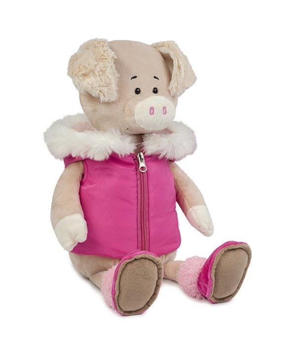 Свинка Ася в спортивной жилетке, 20 см