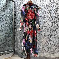e6dabc4726b Платье Dolce Gabbana шифоновое макси с цветочным принтом