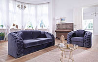 Кожаный комплект meble-pyka 3r+2+1 польская мебель пика CHESTERFIELD NEW